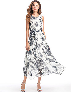 6bac709261 Holiday   Beach Boho Loose Chiffon   Swing Dress Floral Print High Waist  Maxi