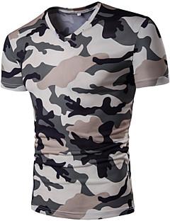 billige Herremote og klær-V-hals T-skjorte - Kamuflasje Herre