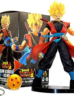 billige Anime cosplay-Anime Action Figurer Inspirert av Dragon Ball Son Goku PVC 21 CM Modell Leker Dukke
