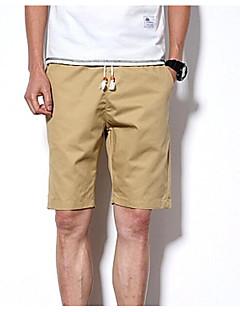 billige Herrebukser og -shorts-Herre Enkel Bomull Tynn Shorts Bukser - Trykt mønster, Ensfarget