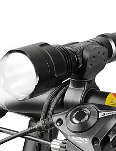 billiga Cykling-LED-Ficklampor / Framlykta till cykel LED Cykelsport Justerbar fokus 18650 Lumen Batteri Camping / Vandring / Grottkrypning /
