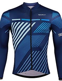 billiga Cykling-SPAKCT Herr Långärmad Cykeltröja - Blå Cykel Tröja, Snabb tork