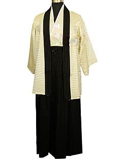tanie Etniczne & Cultural Kostiumy-Cosplay Sukienki / Kimono Damskie Festiwal/Święto Kostiumy na Halloween Czarny / Beżowy Kwiatowy / roślinny Tradycyjny / Vintage / Kimona