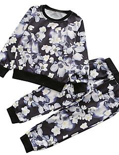 billige Tøjsæt til drenge-Drenge Tøjsæt Daglig Blomstret, Polyester Forår Langærmet Vintage Sort