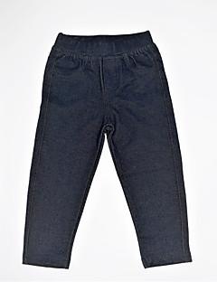 billige Bukser og leggings til piger-Pige Bukser Daglig Ensfarvet, Spandex Forår Efterår Simple Afslappet Mørkegrå Marineblå
