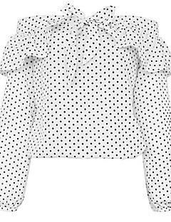 Χαμηλού Κόστους Off The Shoulders-Γυναικεία Πουκάμισο Κομψό στυλ street Πουά, Μανίκι Νυχτερίδα Χαμόγελο Φιόγκος