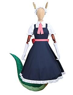 baratos Fantasias Anime-Inspirado por Miss Kobayashi's Dragon Maid Fantasias Anime Fantasias de Cosplay Ternos de Cosplay / Vestidos Outro Manga Curta Blusa / Vestido / Luvas Para Homens / Mulheres Trajes da Noite das Bruxas