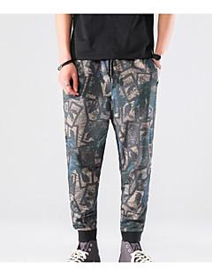 billige Herrebukser og -shorts-menns normale midterstigning, mikro-elastiske skinny bukser, street chic camouflage rayon vår / høst