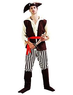 billige Halloweenkostymer-Pirates of the Caribbean Kostume Herre Dame Halloween Karneval Barnas Dag Festival / høytid Drakter Beige Ensfarget Halloween