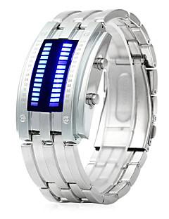billige Rustfrit stål-Dame Digital Watch Kronograf Kreativ Selvlysende Rustfrit stål Bånd Digital Armring Sort / Sølv - Sort Sølv Et år Batteri Levetid / SSUO LR626