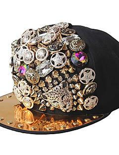 お買い得  ファッション帽子-男女兼用 パーティー コットン ポリエステル, ソリッド 幾何学模様 日よけ帽 ベースボールキャップ