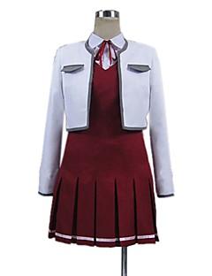"""billige Anime Kostymer-Inspirert av Sword Art Online Asuna Yuuki Cosplay Anime  """"Cosplay-kostymer"""" Cosplay Klær Annen Langermet Trøye Topp Kjole Mer Tilbehør Til"""