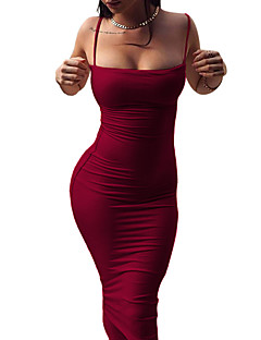 cheap Women's Dresses-Women's Bodycon Sheath Dress - Solid Color, Backless Strap