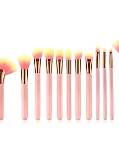 billiga Sminkborstar-11 st Makeupborstar Professionell Borstsatser / Rougeborste / Läppensel Nylonborste Mjuk / Fullständig Täckning / Bekväm Bambu / Trä /