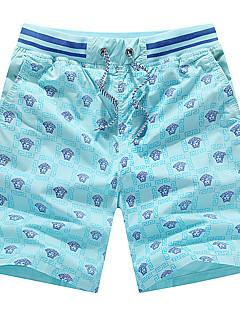 billige Herrebukser og -shorts-Herre Sporty Store størrelser Bomull Tynn Shorts Chinos Bukser - Trykt mønster, Ensfarget Geometrisk