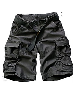 cheap Men's Clothing-Men's Active Plus Size Cotton Loose Chinos Shorts Pants - Solid Colored Camouflage
