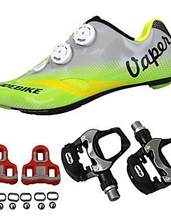 billiga Cykling-SIDEBIKE Vuxna Cykelskor med pedaler och klossar / Skor för vägcykel Kolfiber Stötdämpande Cykelsport Grön Herr