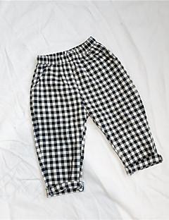 billige Bukser og leggings til piger-Houndstooth mønster Pigens Daglig Bomuld Forår Sommer Kjole Afslappet Sort
