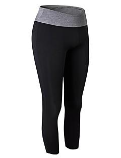 billige Løbetøj-Dame Løbeshorts - Grøn, Blå, Grå Sport Ensfarvet 3/4 Tights / Leggins Træning & Fitness Sportstøj Åndbarhed Elastisk