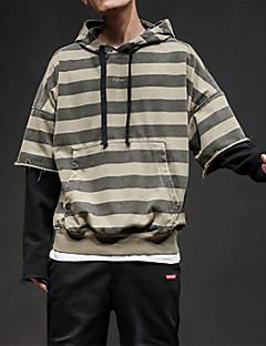 お買い得  メンズフーディー&スウェットシャツ-男性用 長袖 パーカー - カラーブロック フード付き
