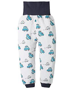 billige Babyunderdele-Baby Unisex Bukser Daglig Geometrisk, Polyester Forår Uden ærmer Basale Blå Hvid Orange Navyblå