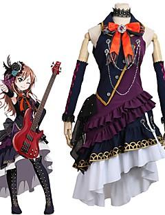 """billige Anime Kostymer-Inspirert av BanG Dream Cosplay Anime  """"Cosplay-kostymer"""" Cosplay Klær Annen Ermeløs Halsklut Kjole Mer Tilbehør Til Herre Dame"""