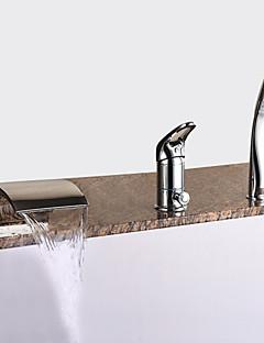 baratos Spray Lateral-Torneira de Banheira - Modern Cromado Banheira Romana Válvula Cerâmica