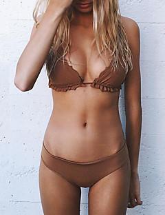 billige Bikinier og damemote 2017-Dame Bikini - Drapering, Cheeky Ensfarget