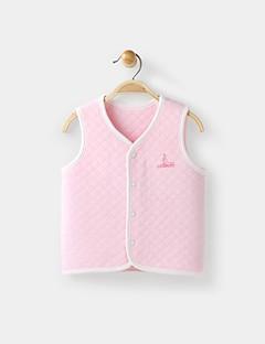 billige Babyoverdele-Baby Unisex Undertrøje og cami-top Daglig Ferie Ensfarvet, Bomuld Forår Efterår Uden ærmer Simple Afslappet Blå Hvid Lyserød Gul