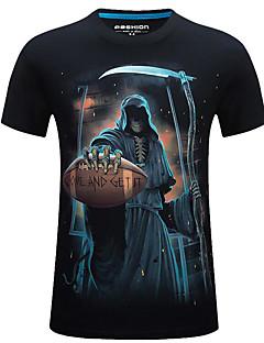 billige Herre Toppe-Rund hals Herre - Geometrisk, Trykt mønster T-shirt