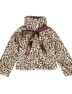 tanie Odzież dla dziewczynek-Kurtka / płaszcz Bawełna Dla dziewczynek Codzienny Urlop Cętki Jesień Długi rękaw Urocza Brown
