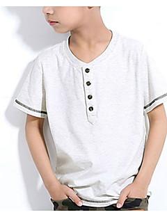 tanie Odzież dla chłopców-T-shirt Bawełna Dla chłopców Codzienny Nadruk Lato Krótki rękaw Prosty White