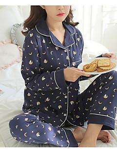 baratos Pijamas Femininos-Mulheres Decote em V Profundo Conjunto Pijamas Galáxia