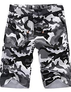 billige Herrebukser og -shorts-Herre Shorts Bukser - Trykt mønster, Kamuflasje