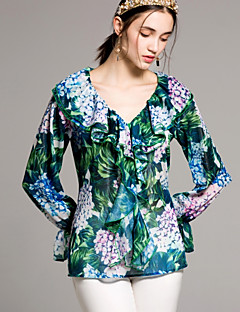 tanie AW 18 Trends-Koszula Damskie Podstawowy Kwiaty