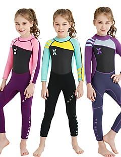 cheap Surfing, Diving & Snorkeling-Girls' 2mm Full Wetsuit Wearable UPF50+ Stretchy High Elasticity UV resistant YKK Zipper Nylon SCR Neoprene Diving Suit Long Sleeves