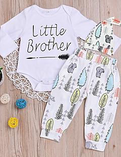 billige Sett med babyklær-Baby Unisex Geometrisk Halvlange ærmer Tøjsæt