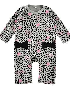 billige Babytøj-Baby Pige En del Daglig Ferie Leopard, Bomuld Forår Efterår Langærmet Aktiv Grå