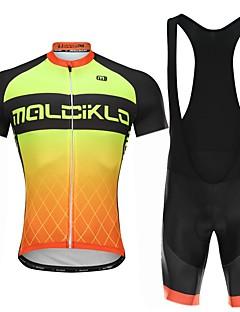 billige Sykkelklær-Personlig tilpassede sykkelklær Herre Sykkeljersey med bib-shorts Personlig tilpassede sykkelklær - Hvit Svart Sykkel Fort Tørring, Anatomisk design / Mikroelastisk