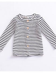 billige Sweaters og cardigans til piger-Nyfødt Pige Vintage Stribet Trykt mønster Langærmet Bomuld Trøje og cardigan