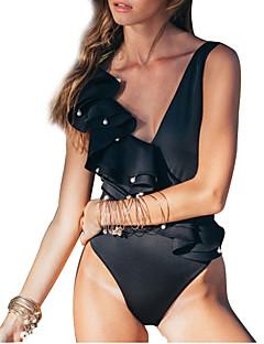 billige Bikinier og damemote 2017-Dame En del Cheeky Ensfarget