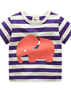 billige Overdele til drenge-Drenge Stribet Kortærmet T-shirt