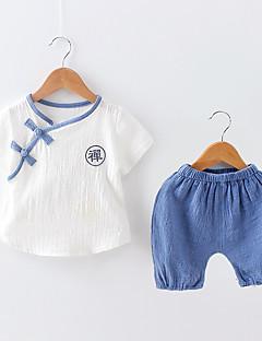 billige Tøjsæt til drenge-Børn Drenge Farveblok Kortærmet Tøjsæt