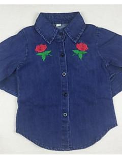 billige Overdele til drenge-Børn Drenge Blomstret Langærmet Skjorte