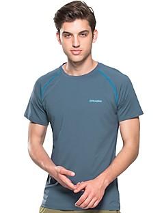 baratos Camisetas para Trilhas-FLYGAGa Homens Camiseta de Trilha Ao ar livre Verão Secagem Rápida, Respirabilidade, Redutor de Suor Camiseta N / D Acampar e Caminhar, Exercicio Exterior, Multi-Esporte Amarelo Azul Cinzento
