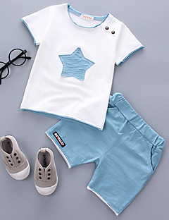 billige Sett med babyklær-Baby Unisex Galakse Kortærmet Tøjsæt