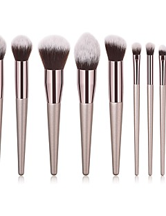 povoljno -9pcs Četke za šminku profesionalac Četka Setovi / Kist za rumenilo / Kist za sjenilo Nylon Brush / Synthetic Hair Eco-friendly / / Drvo