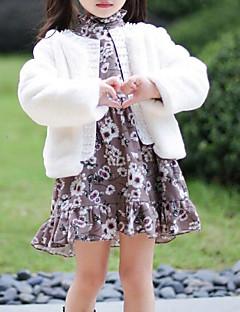tanie Odzież dla dziewczynek-Kurtka / płaszcz Poliwęglan Bawełna Dla dziewczynek Jendolity kolor Brown White Blushing Pink