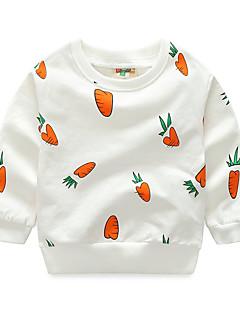 billige Hættetrøjer og sweatshirts til drenge-Drenge Daglig Trykt mønster Hættetrøje og sweatshirt, Bomuld Forår Efterår Langærmet Sødt Hvid Grå Gul