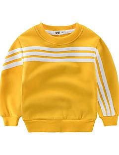 billige Hættetrøjer og sweatshirts til drenge-Drenge Daglig Sport Ensfarvet Stribet Hættetrøje og sweatshirt, Bomuld Forår Efterår Langærmet Sødt Guld Grå